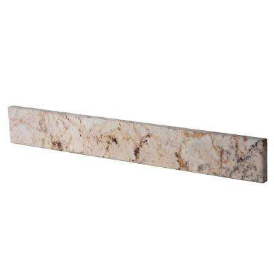 21 in. W Stone Effects Sidesplash in Rustic Gold