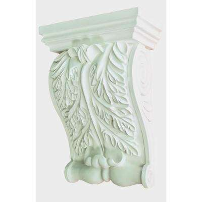 7-13/16 in. x 11 in. x 3-3/4 in. Primed Polyurethane Decorative Acanthus Corbel