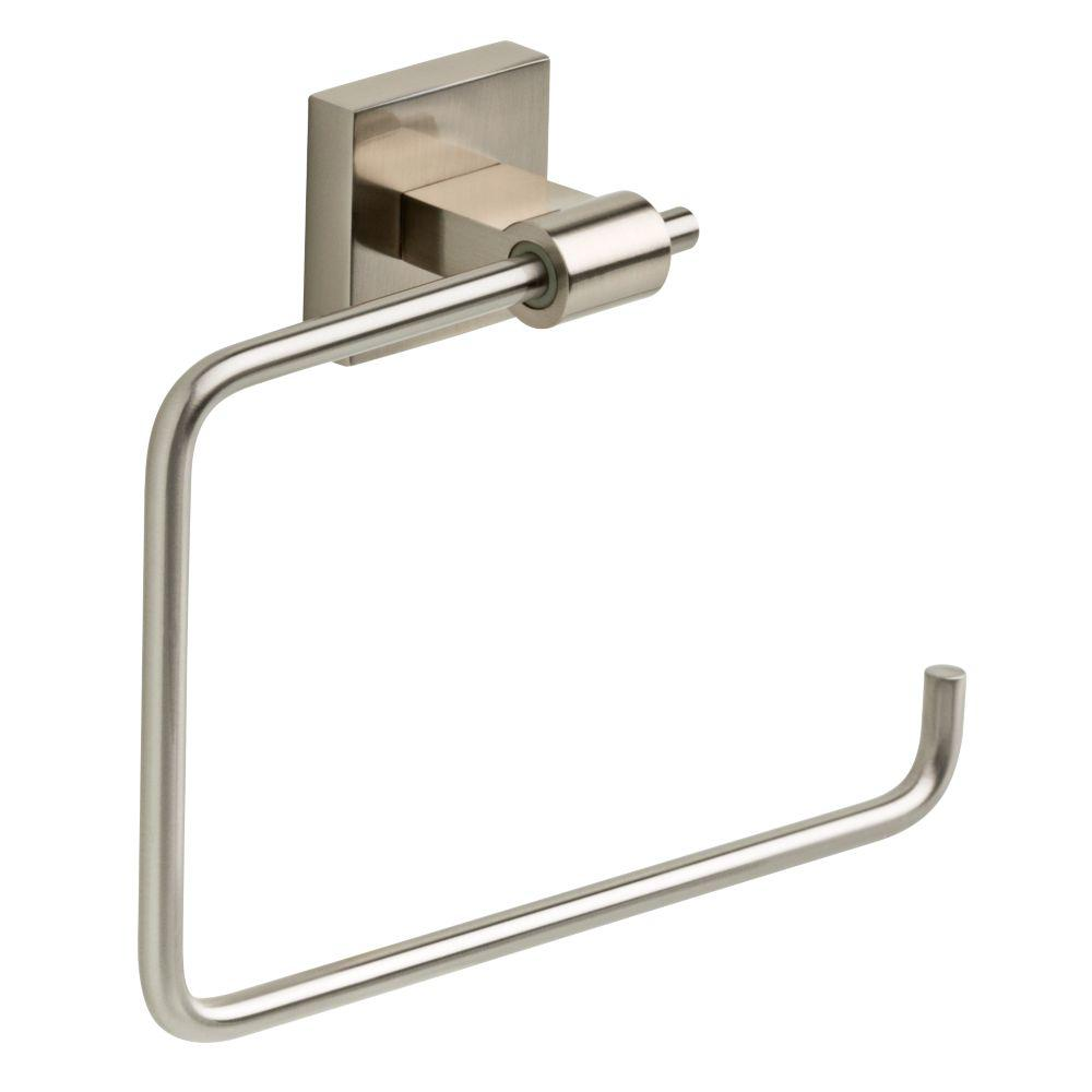 Hand Towel Ring Placement: Franklin Brass Maxted Open Towel Ring In Brushed Nickel