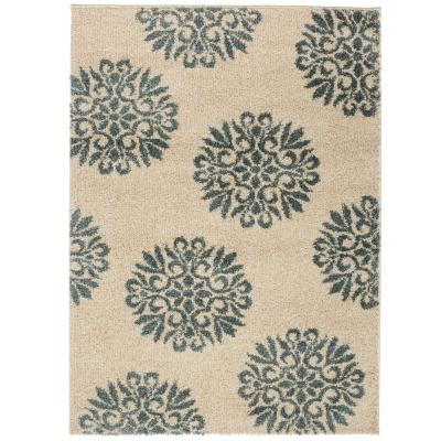 Mohawk Home Exploded Medallions Starch 8 ft. x 10 ft. Indoor Area Rug