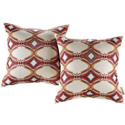 Patio Square Outdoor Throw Pillow Set in Repeat (2-Piece)