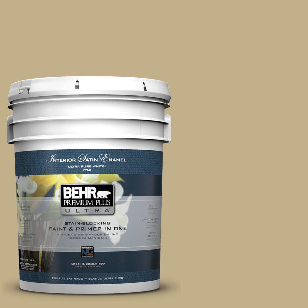 5-gal. #380F-5 Harmonic Tan Satin Enamel Interior Paint