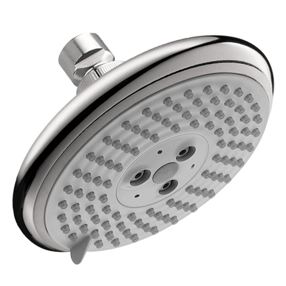 Hansgrohe Raindance E 120 3-Spray 5 in. Air Showerhead in Chrome ...
