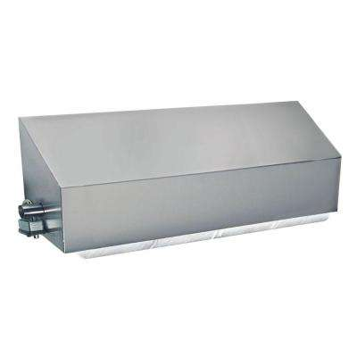 Stainless Solutions Double Post Covered Toilet Paper Holder in Steel with Angled Splash Cover