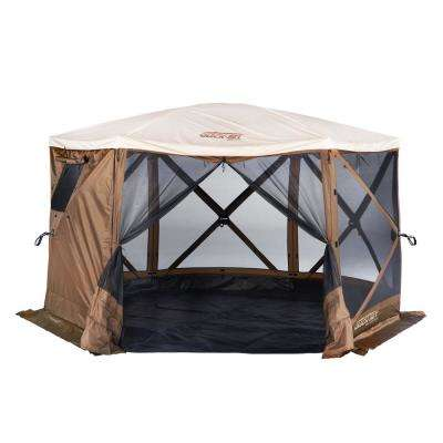 Quickset Sky 6-Side Screen Roof Camper Screen Shelter with Floor and Rain Fly