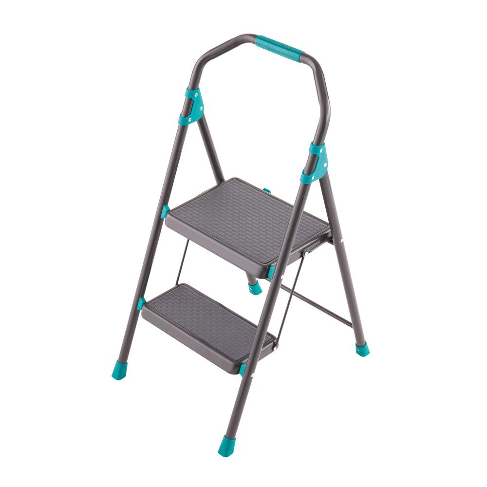 Tricam Industries 2 Step Steel Step Stool Ladder With 225