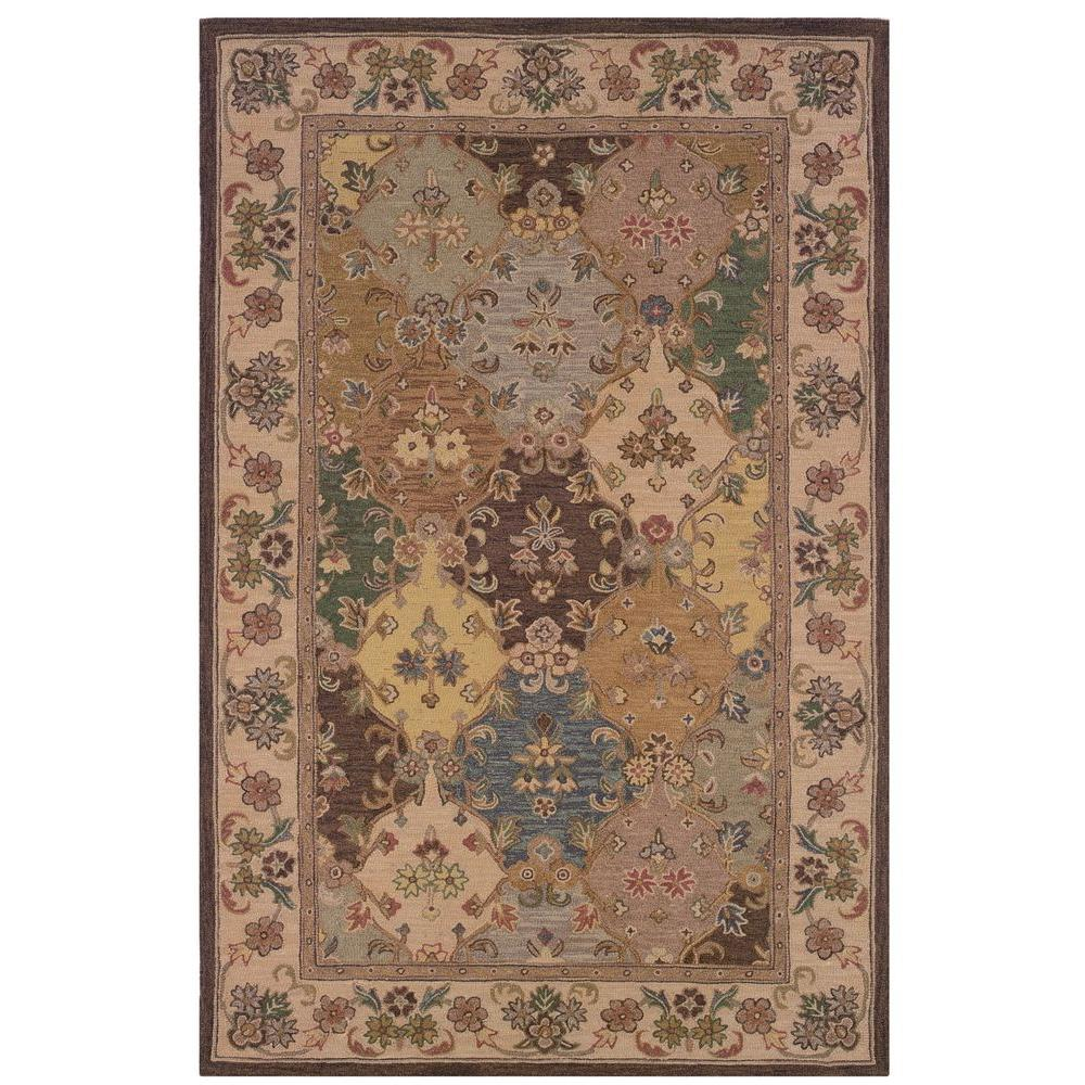 Linon Soumak Collection Brown and Ivory 4 ft. x 6 ft. Ind...
