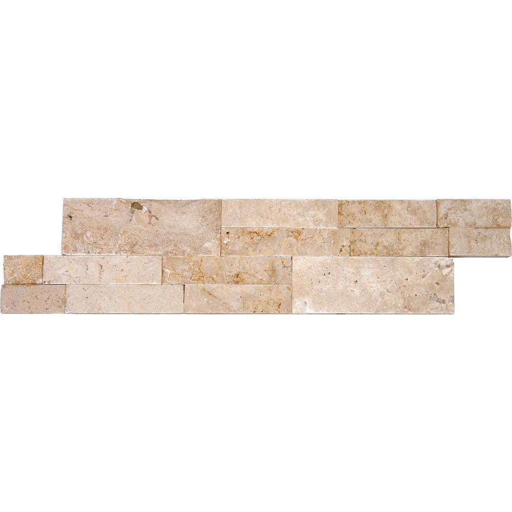 MSI Salvador Beige Ledger Panel 6 in. x 24 in. Natural Sandstone Wall Tile (24 cases / 192 sq. ft. / pallet)