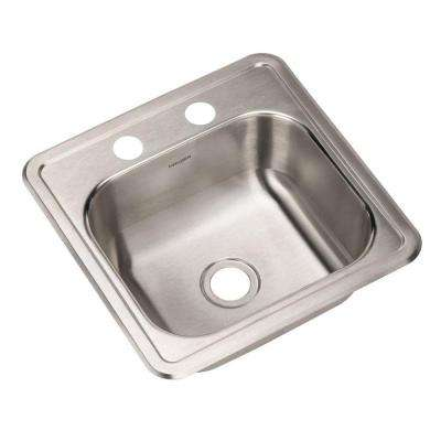 Hospitality Series Drop-in Stainless Steel 15 in. 2-Hole Bar/Prep Single Bowl Kitchen Sink (5-Pack)