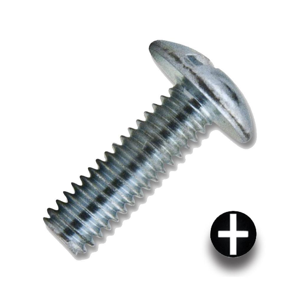 #8-32 x 5/8 in. Zinc Combo Drive Truss Head Machine Thread (1000 per Box)
