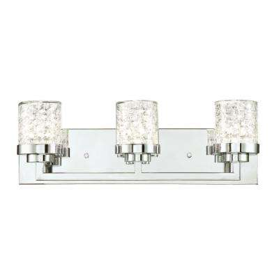 Joliet 3-Light Chrome Wall Mount Bath Light