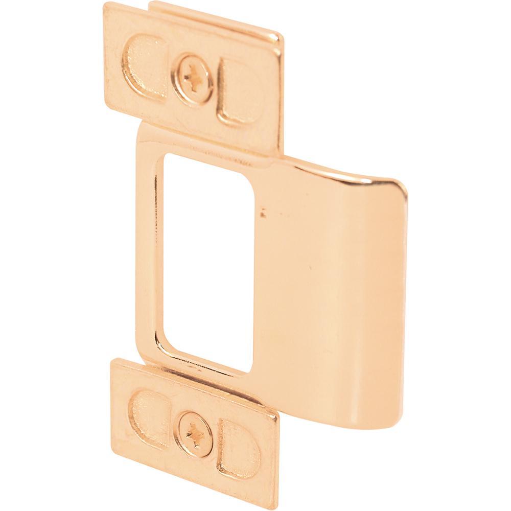 Prime Line Brass Plated Adjustable Door Strike U 9486 The Home Depot