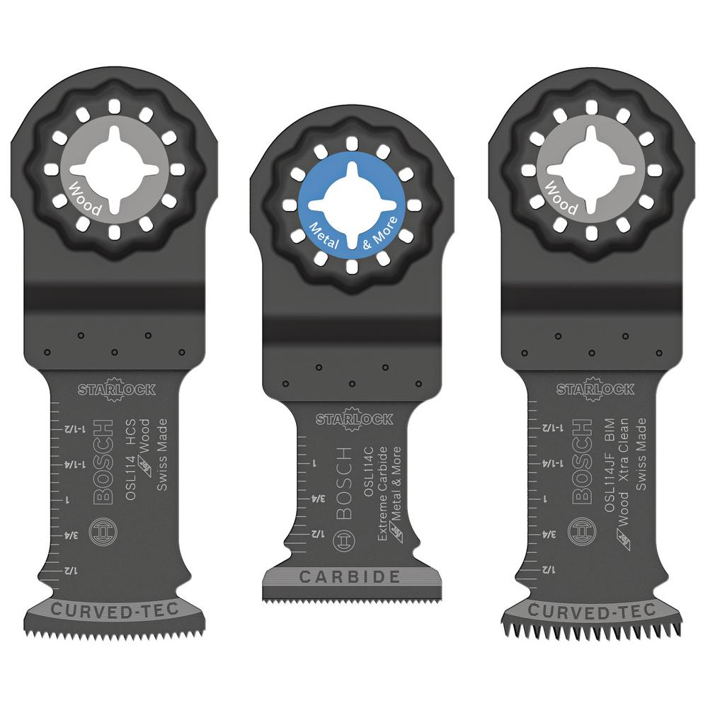 Starlock Oscillating Multi-Tool Accessory Blade Set (3-Piece)
