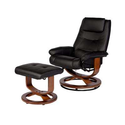 Deluxe Black Padded PU Leather Massage Recliner