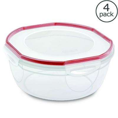 Ultra-Seal 4.7 Qt. Bowl Food Storage Container (4-Pack)