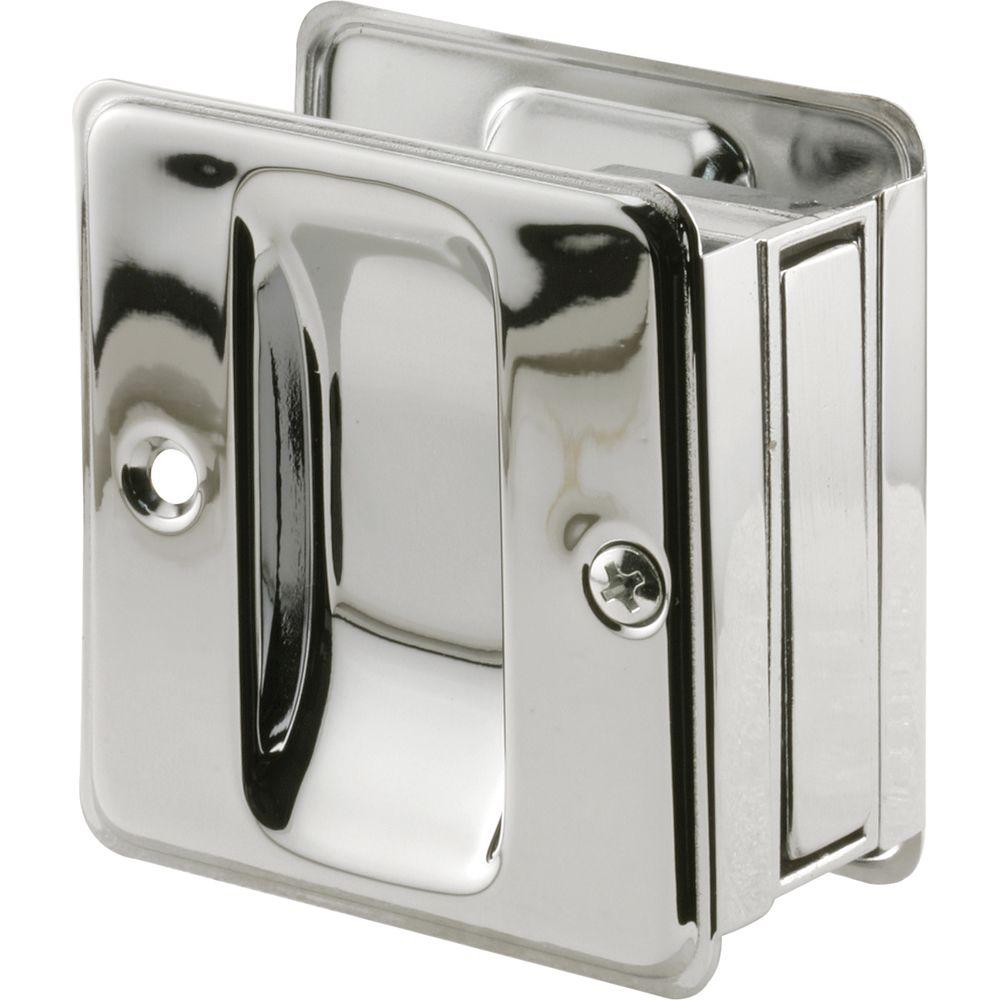 Superb Prime Line Chrome Plated Pocket Door Passage Pull N 7085   The Home Depot