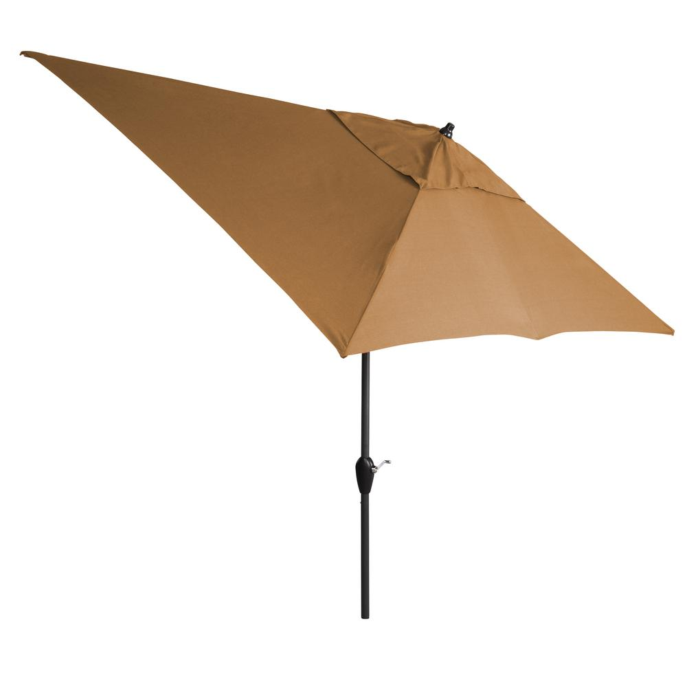 10 ft. Aluminum Tilt Patio Umbrella in Sunbrella Canvas Cork