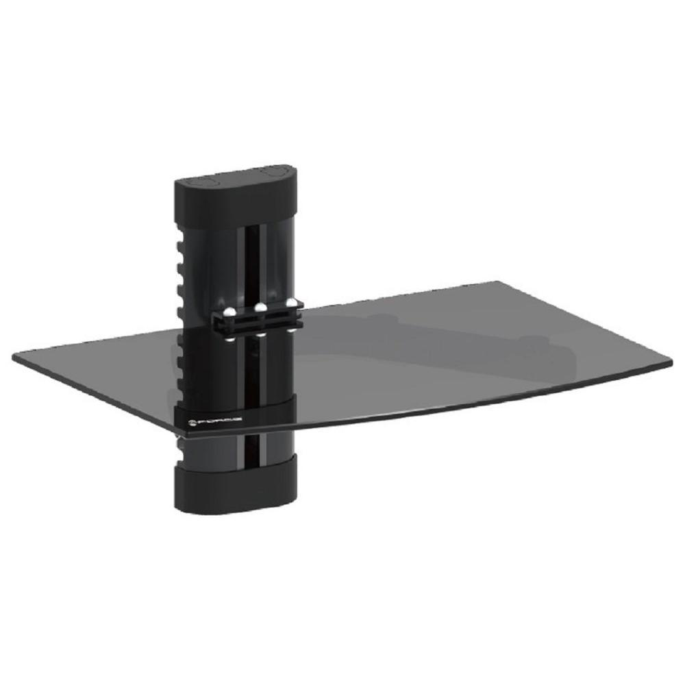 gforce dvd wall mount with black tempered glass gf p1124 1137 the home depot. Black Bedroom Furniture Sets. Home Design Ideas