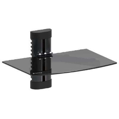 DVD Wall Mount with Black Tempered Glass