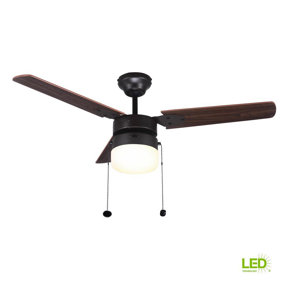 Montgomery 42 in. LED Indoor Oil Rubbed Bronze Ceiling Fan with ...