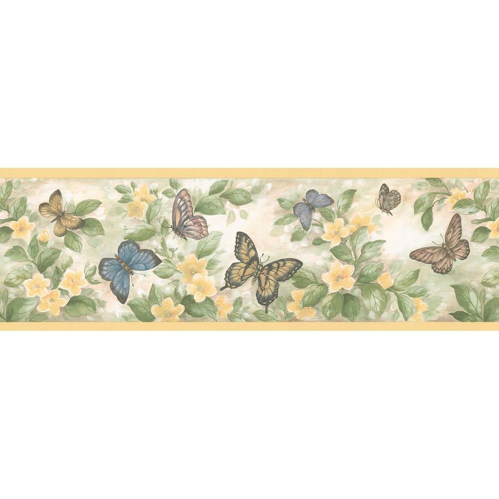 Kitchen Bath Bed Resource III Butterflies Wallpaper Border