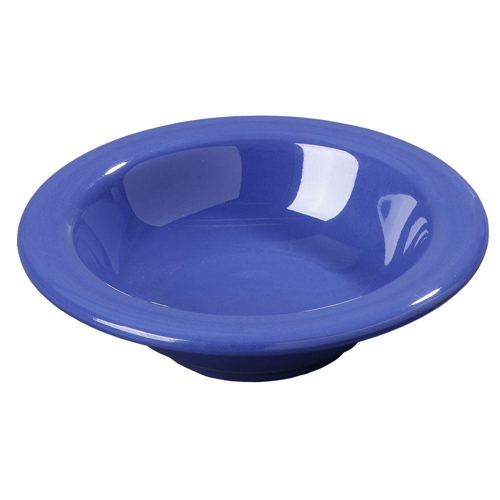 4.5 oz., 4.84 in. Diameter Melamine Rimmed Fruit Bowl in Ocean Blue (Case of 48)