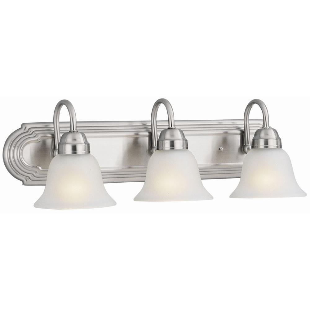 Allante 3-Light Satin Nickel Bath Light