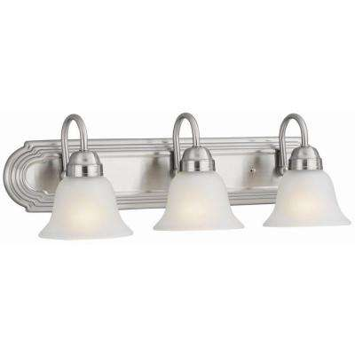 Allante 3-Light Satin Nickel Bath Light