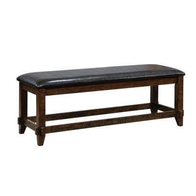 Meagani Espresso Transitional Style Bench