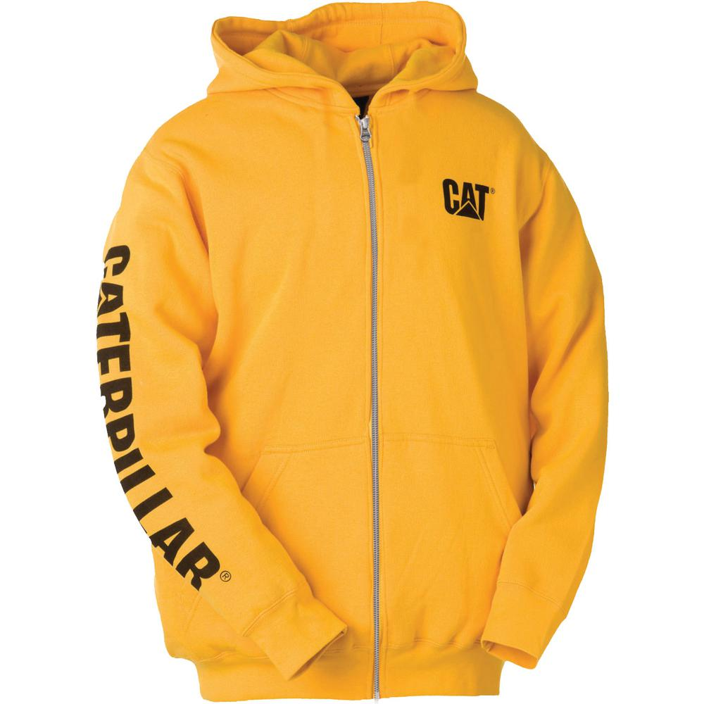Trademark Banner Men's Small Yellow Cotton/Polyester Full Zip Hooded Sweatshirt
