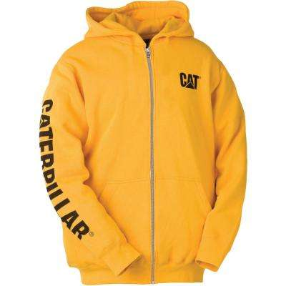 Trademark Banner Men's Tall-2X-Large Yellow Cotton/Polyester Full Zip Hooded Sweatshirt
