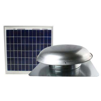 433 CFM Mill Solar Powered Roof Attic Fan with Roof-Mounted Solar Panel