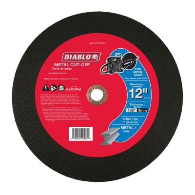 12 in. x 1/8 in. x 1 in. Metal High Speed Cut-Off Disc