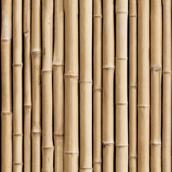 RoomMates 28.29 sq. ft. Bamboo Peel and Stick Wallpaper