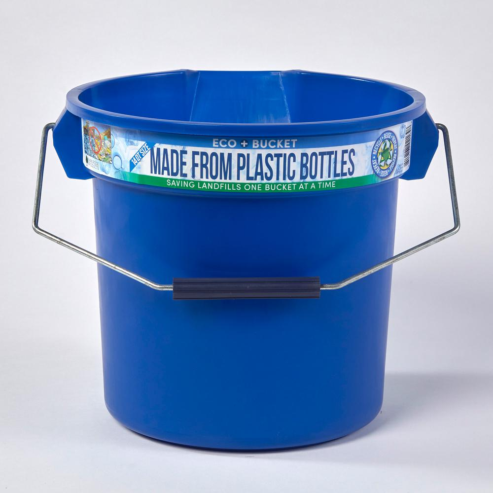 3.5 Gal. Blue Round 14 Qt. Utility ECO Bucket 100% Made
