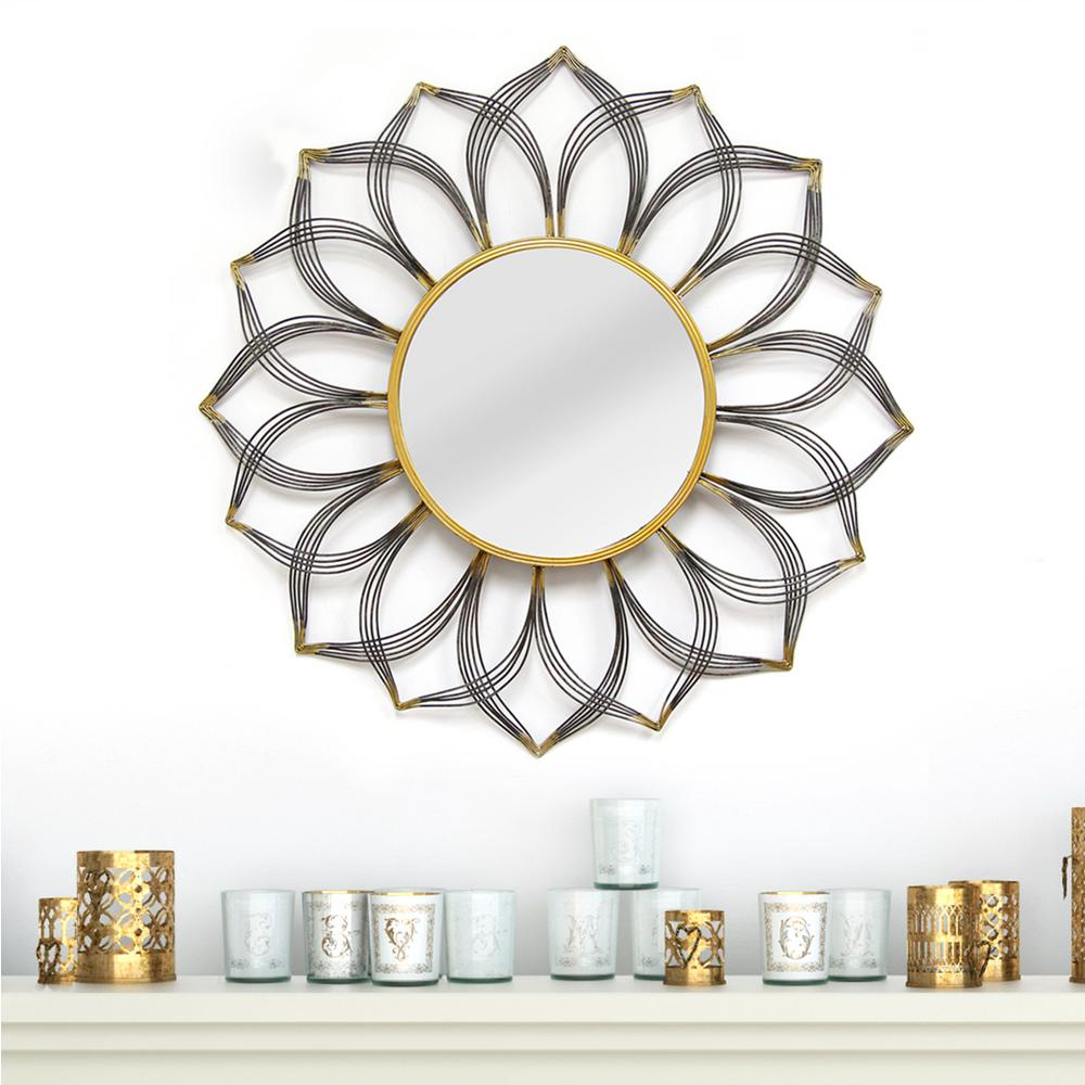 Superior Stratton Home Decor 31.5 In. Round Decorative Giselle Wall Mirror