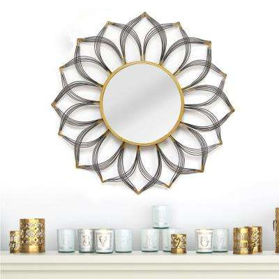 31.5 in. Round Decorative Giselle Wall Mirror