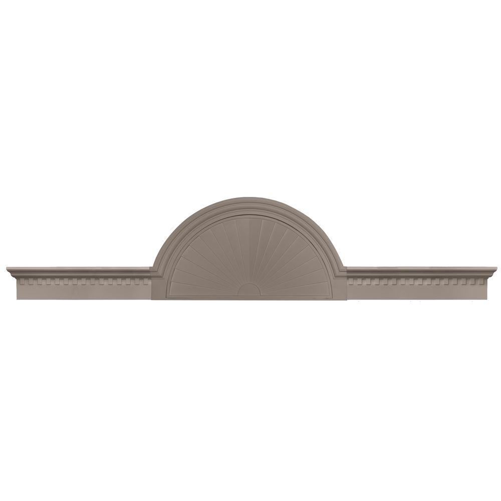 Builders Edge 70 in. - 106 in. Classic Dentil Panel Window and Door Accent in 008 Clay-DISCONTINUED