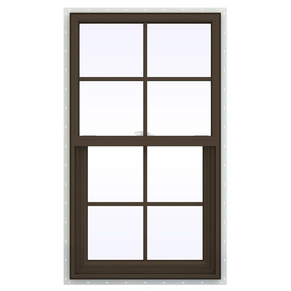 23.5 in. x 41.5 in. V-2500 Series Single Hung Vinyl Window
