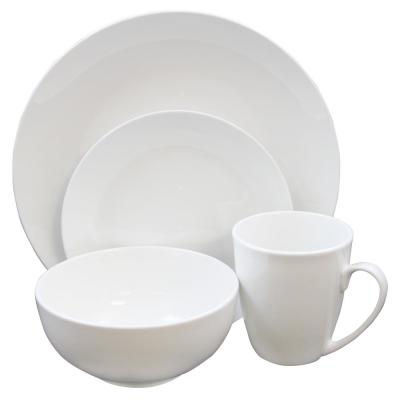 Ogalla 16-Piece Formal White Porcelain Dinnerware Set (Service for 4)