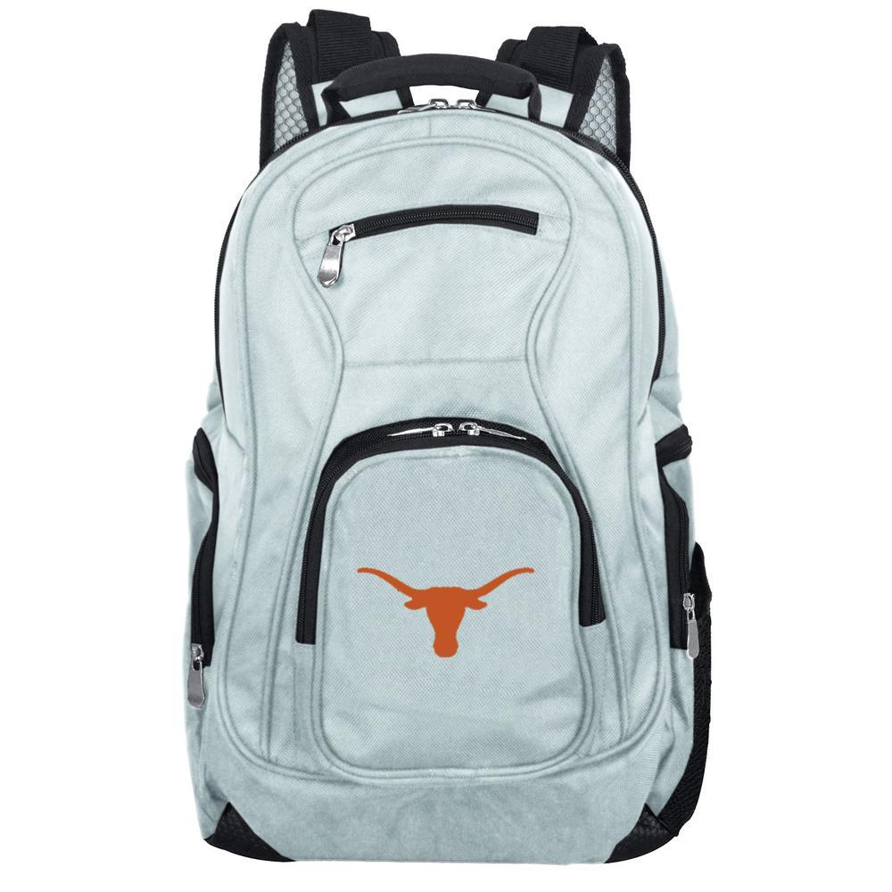 Denco NCAA Texas Longhorns 19 in. Gray Laptop Backpack
