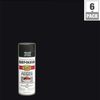 12 oz. Flat Dark Gray Automotive Primer Spray (6-Pack)