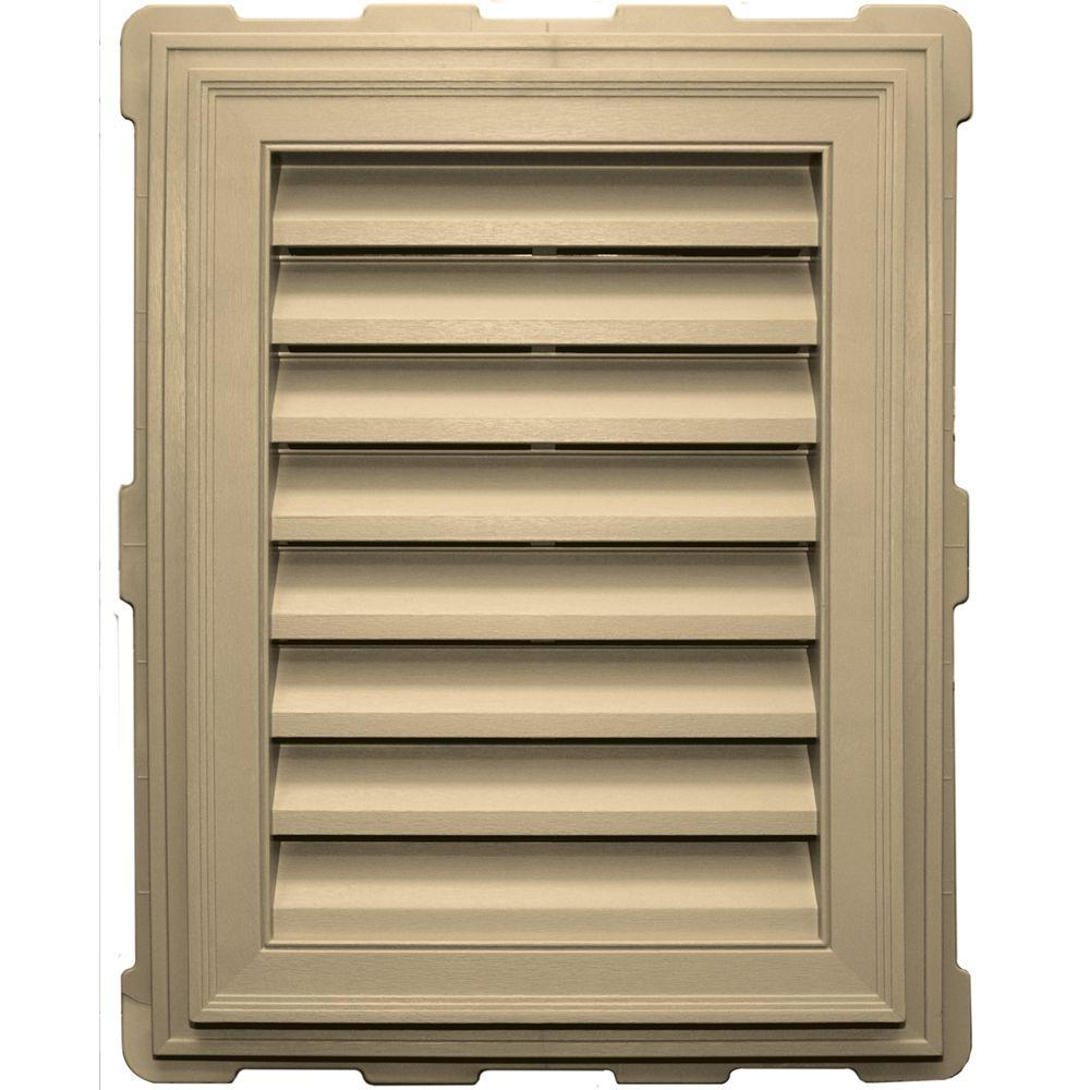 Builders Edge 18 in. x 24 in. Classic Brickmould Gable Vent in Dark Almond