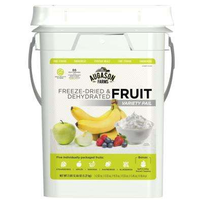 Freeze-Dried Fruit Variety Pail Emergency Food Supply 6 Varieties 4 Gal. Pail 30 Year Shelf Life