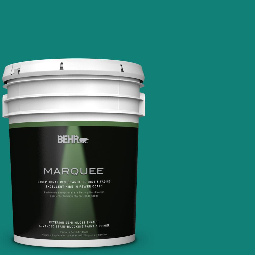 BEHR MARQUEE Home Decorators Collection 5-gal. #HDC-WR14-9 Green Garlands Semi-Gloss Enamel Exterior Paint