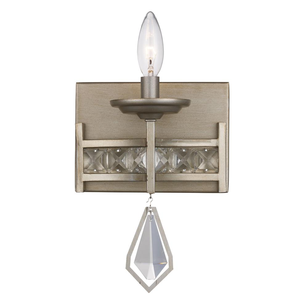 Bel Air Lighting Eli 1-Light Antique Silver Leaf Sconce