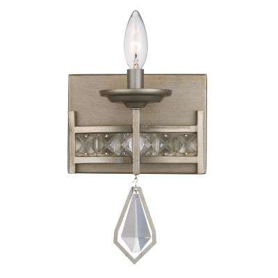 Eli 1-Light Antique Silver Leaf Sconce