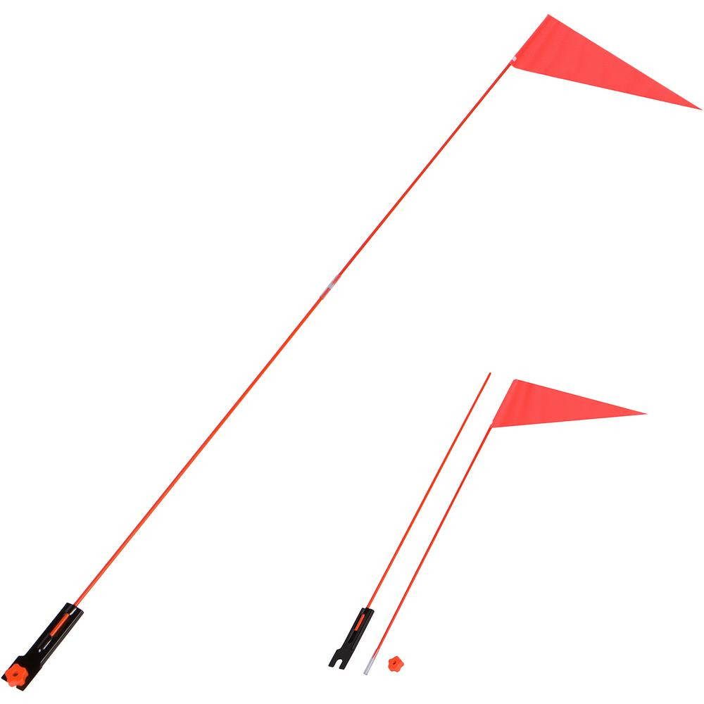 Trademark Innovations 5 ft  Safety Flag with Bicycle Mounting Bracket