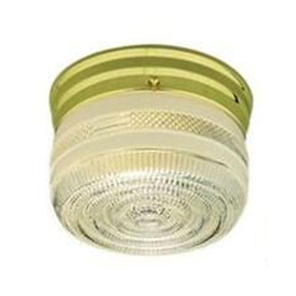 Filament Design Lenor 1-Light Polished Brass Incandescent Ceiling Flush Mount