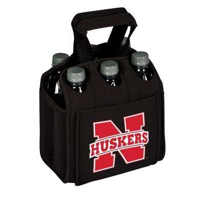 University of Nebraska - Lincoln Cornhuskers 6-Bottles Black Beverage Carrier